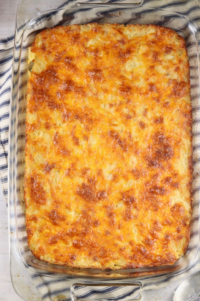 Funeral Potatoes Casserole with cheese