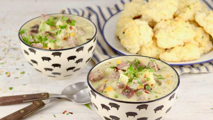 Quick Smoked Sausage Potato Soup