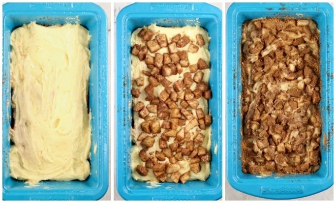 Layers to making apple fritter cake