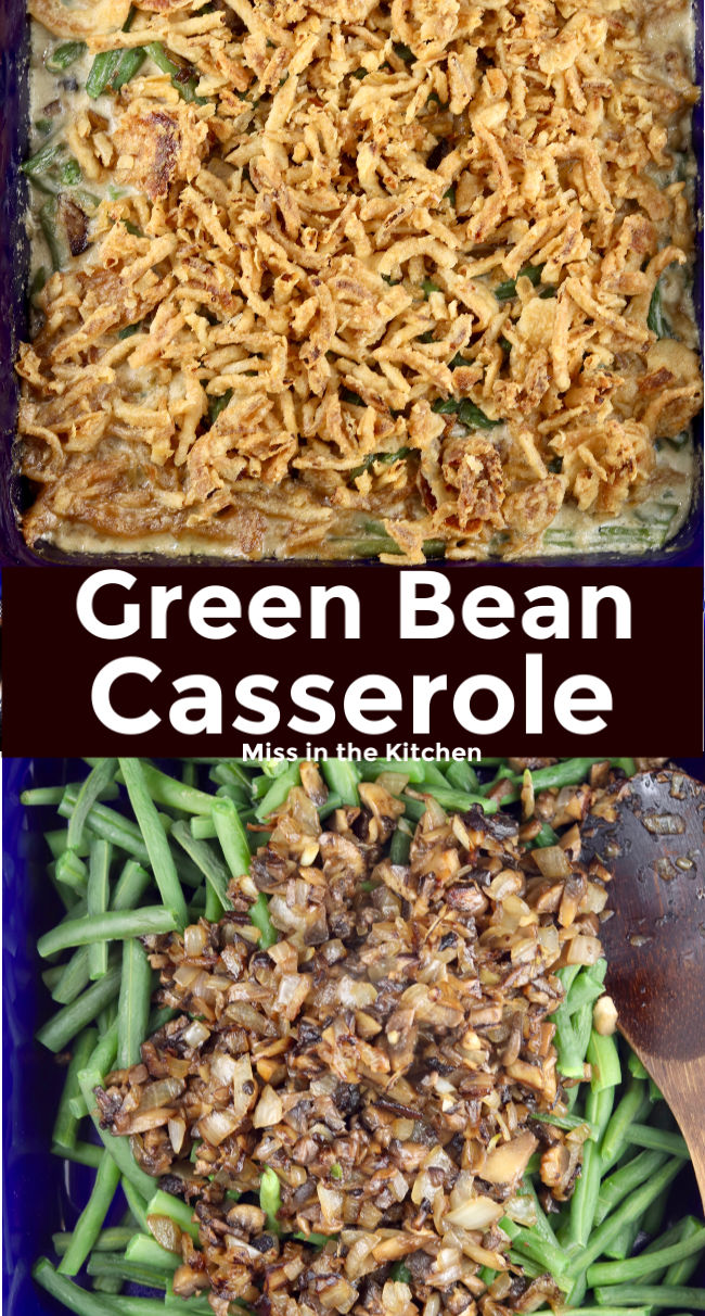 Green Bean Casserole collage with text overlay