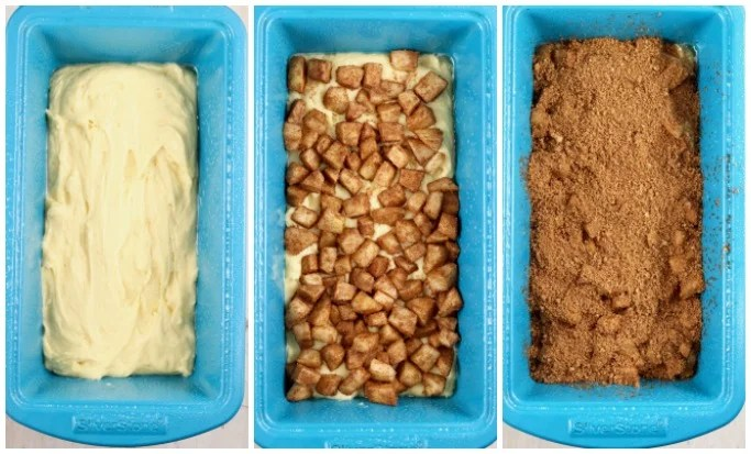 Step by step making apple fritter cake