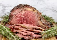 Sliced Prime Rib Roast