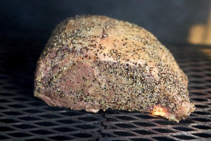 Prime Rib Roast on the grill