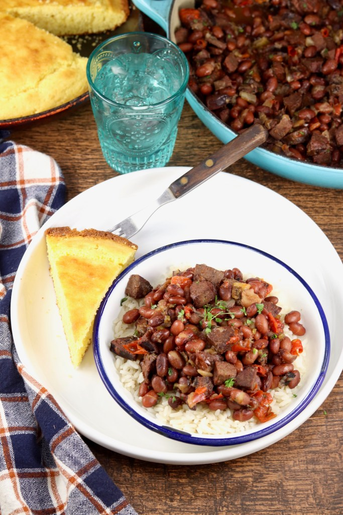 Red Beans and Rice and cornbread
