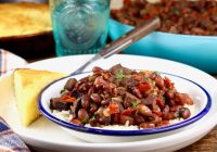 Red Beans and Rice with cornbread