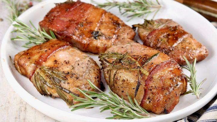 Platter of pork chops
