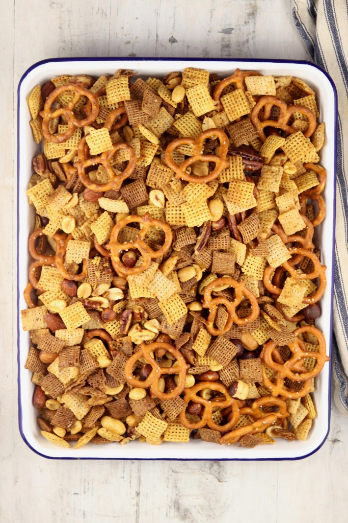 Pan of Chex Mix