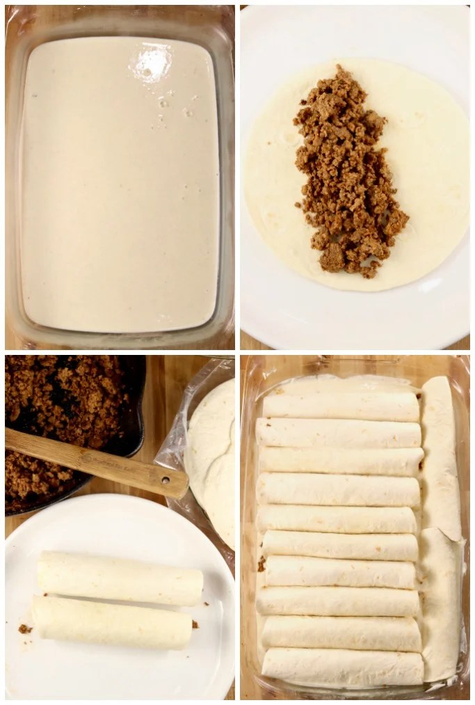 how to make burritos with sauce