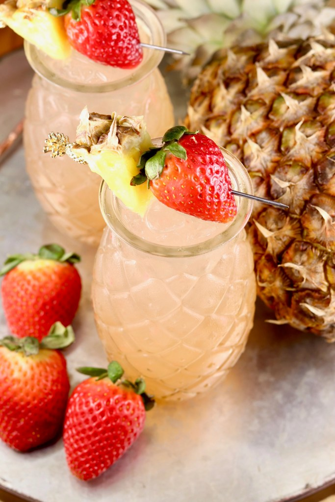 Strawberry Pineapple Wine Party Punch