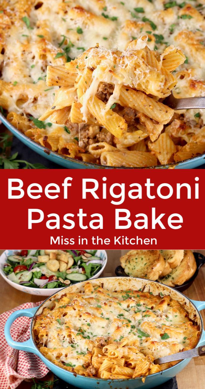 Beef Rigatoni bake