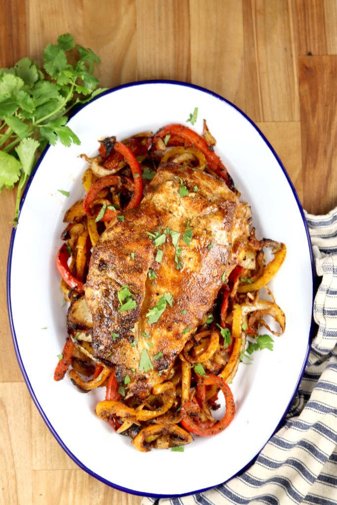 Grilled Chicken and Fajita vegetables