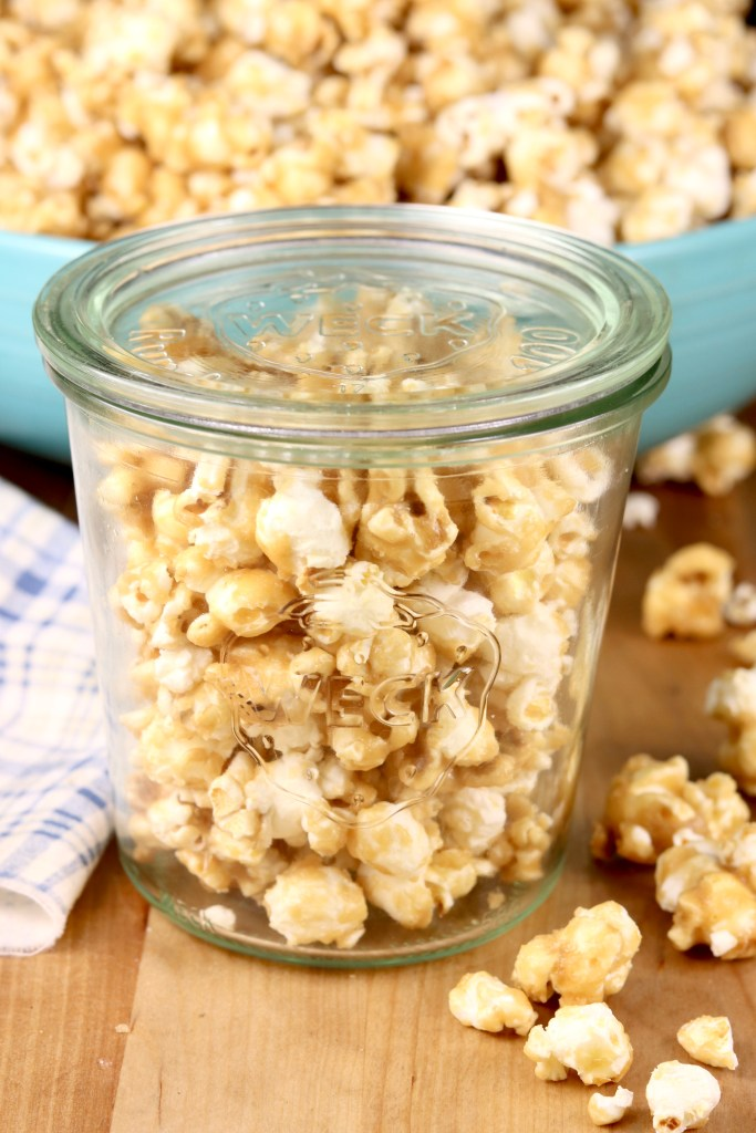 Caramel Popcorn in a jar