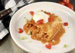 Chicken Enchilada Lasagna Roll Ups