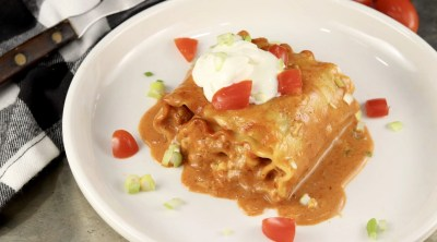 Chicken Enchilada Lasagna Roll Ups