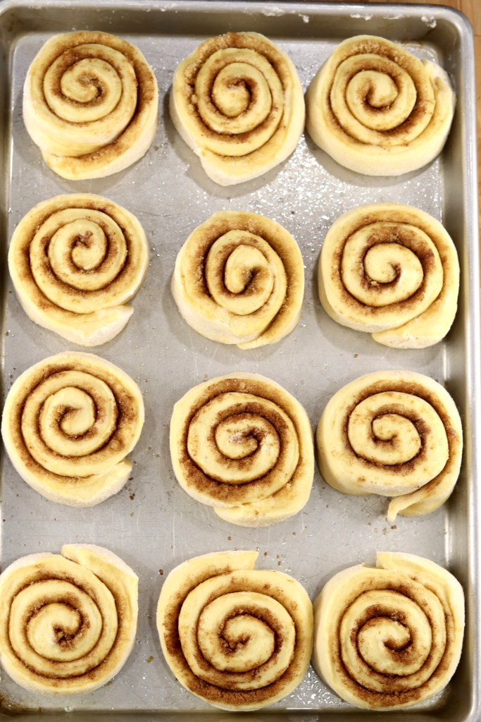Cinnamon Roll Dough ready to bake