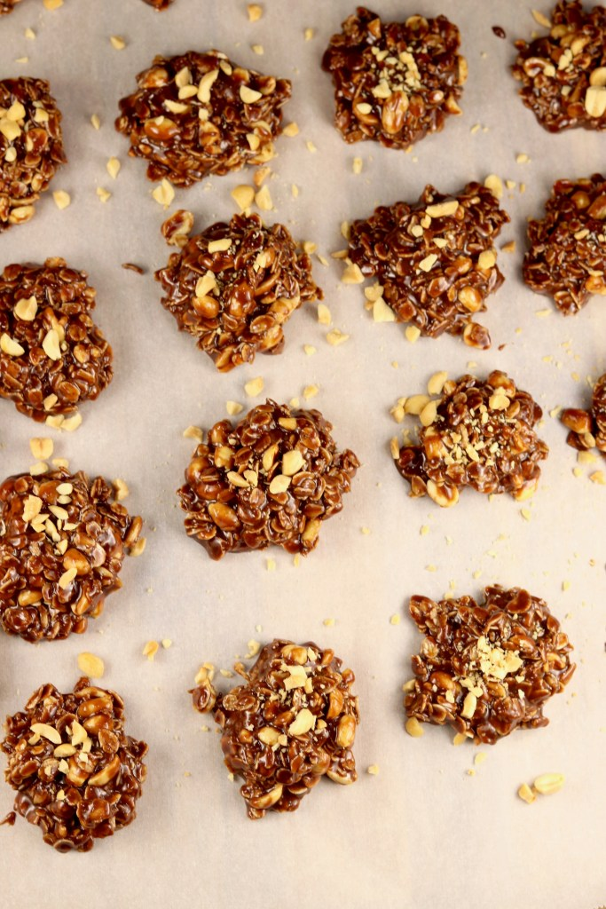 Mounds of chocolate no bake cookies