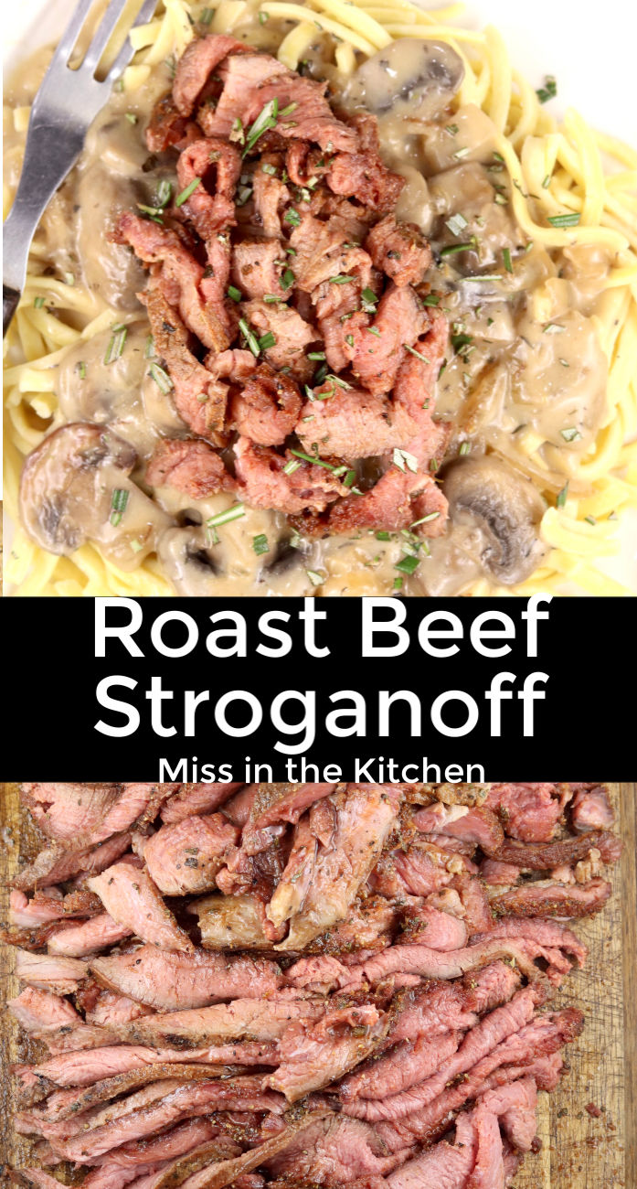 Roast Beef Stroganoff Collage