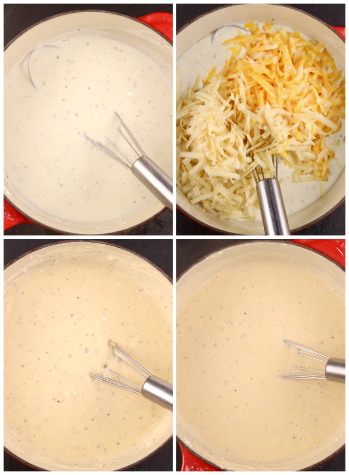 Making a cheese sauce for mac and cheese