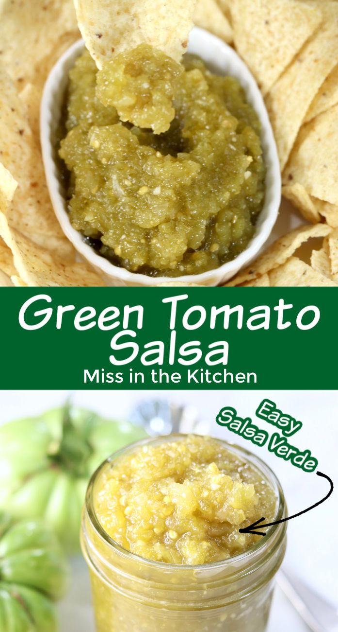 Green Tomato Salsa collage