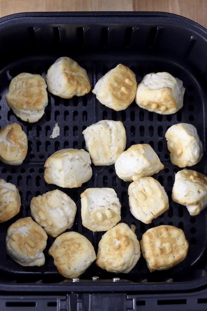 Air fried donut holes