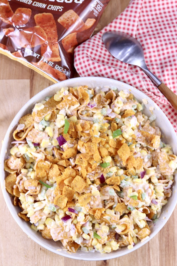 Corn salad with chili cheese Fritos