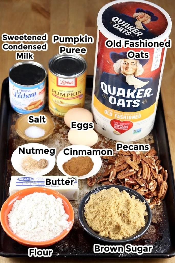 Pumpkin Pecan Crisp Ingredients