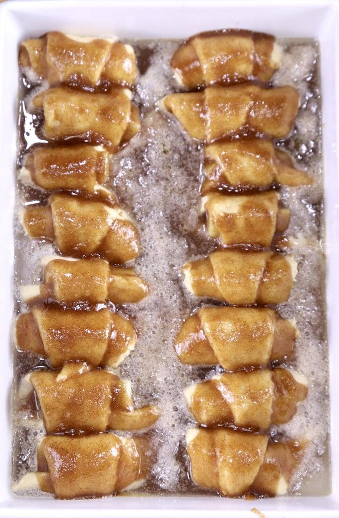 Apple Dumplings ready for the oven