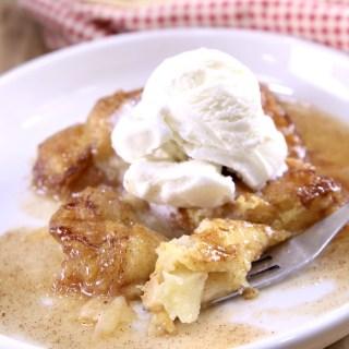 Apple Dumplings with Vanilla Ice Cream