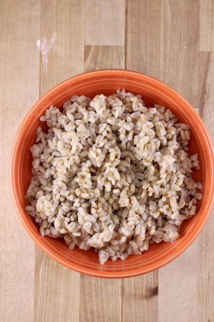bowl of cooked pearl barley