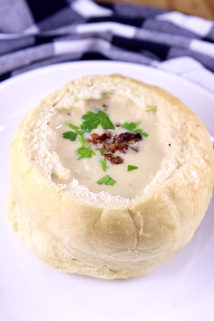 Beer Cheese Soup on a plate