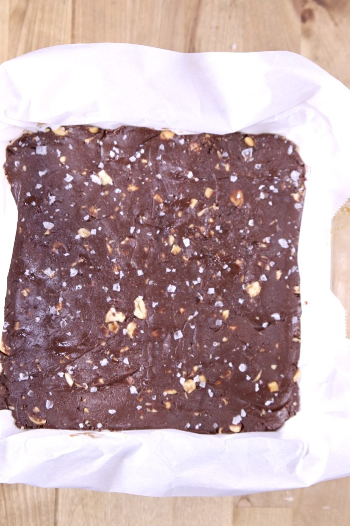 salted cashew fudge