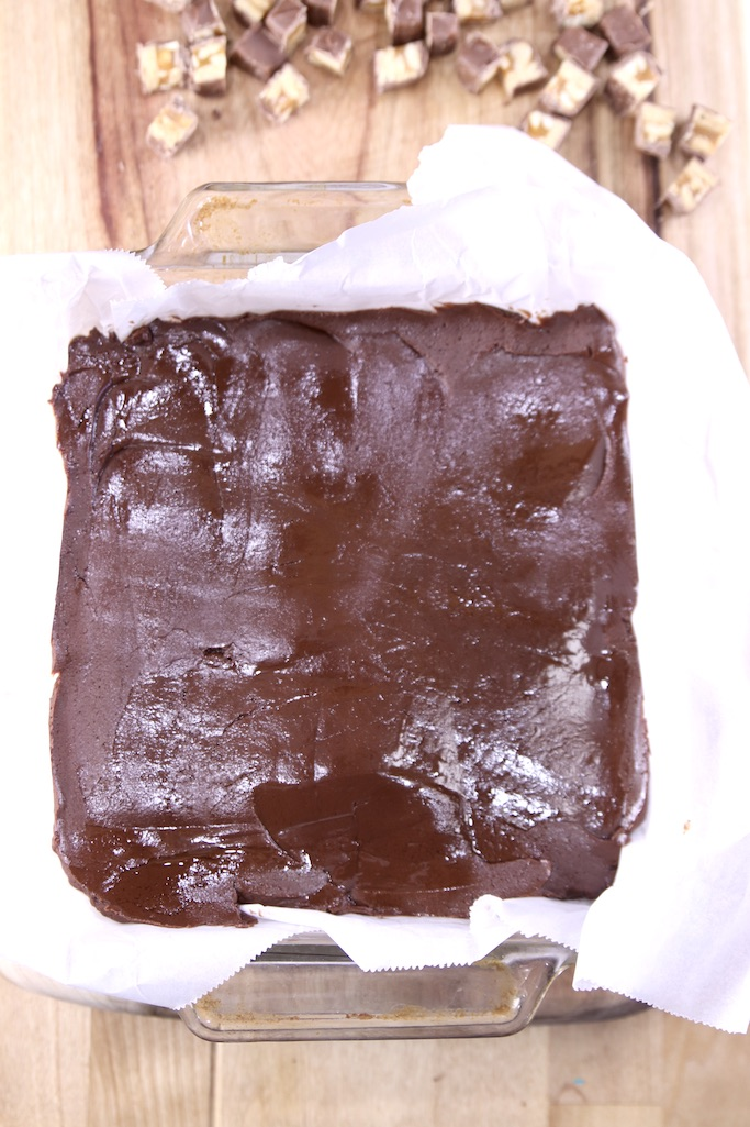 Chocolate Fudge in a square pan