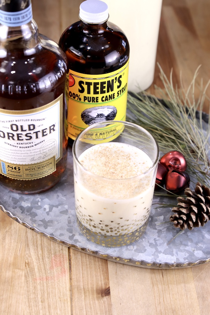 Spiked Eggnog with Old Forester Bourbon & Steen's Pure Cane Syrup