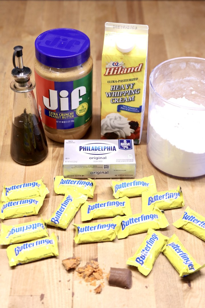 Ingredients for Butterfinger Cheesecakes