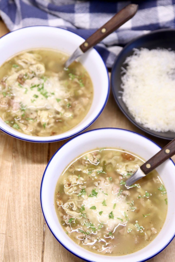 Stracciatella Soup with parmesan cheese, 2 bowls