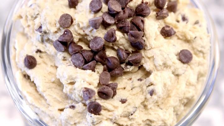 Jar of chocolate chip cookie dough