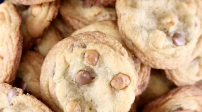 Macadamia Nut Chocolate Chip Cookies in a bowl