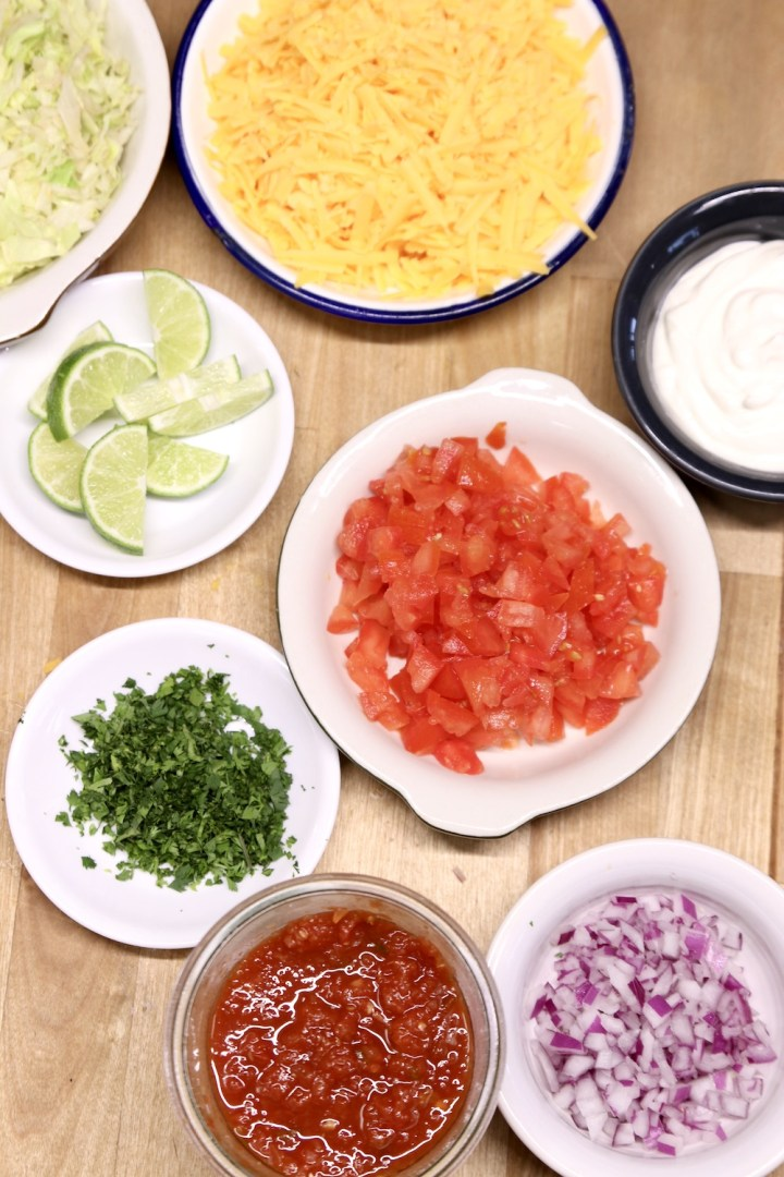 toppings for tacos