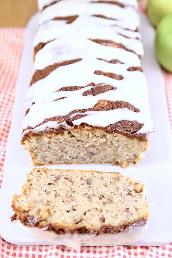Apple Bread with cream cheese icing