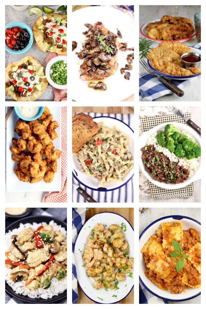 9 quick dinner recipes collage