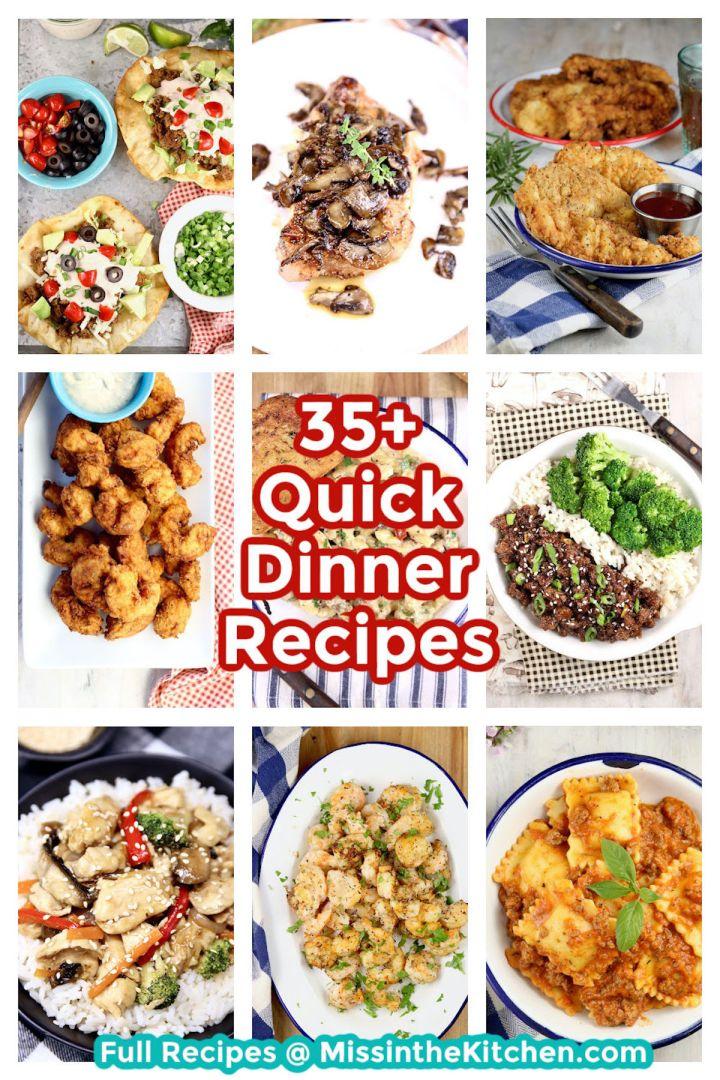 35 quick dinner recipes