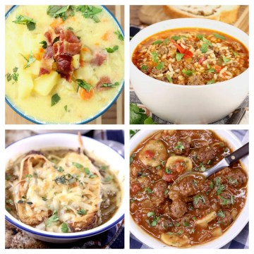 Best Soup Recipes - collage of 4