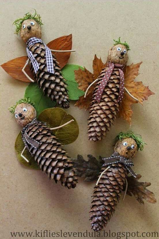 Tannenzapfen basteln Herbst
