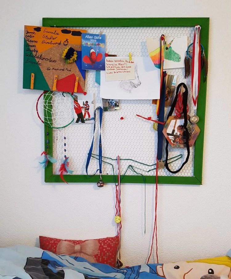 Diy pinnwand geschenk basteln coole idee einfach umgesetzt mission mom - Pinnwand kinderzimmer basteln ...