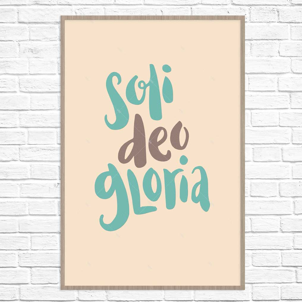 soli deo gloria poster print