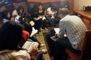 Bible Study with girls from Fundaninos