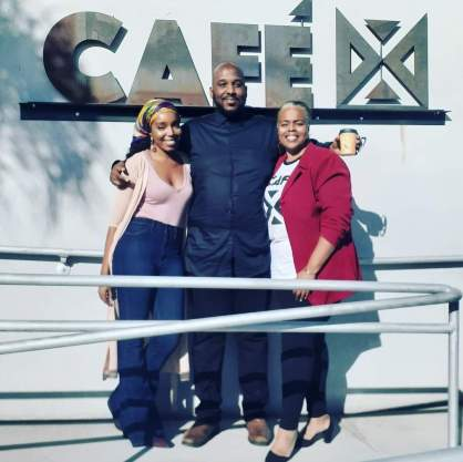 From left: Khea Pollard, CEO & co-owner of Cafe X: By Any Beans Necessary; Dawud Hassan, Organizer for the annual Hip Hop 5K; Cynthia Ajani, VP & COO/co-owner of Cafe X: By Any Beans Necessary