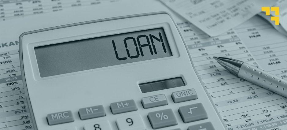Loan calculator stock photo