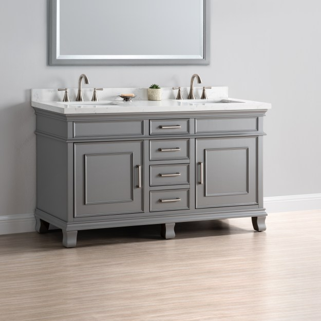 "charleston 60"" double sink vanity 