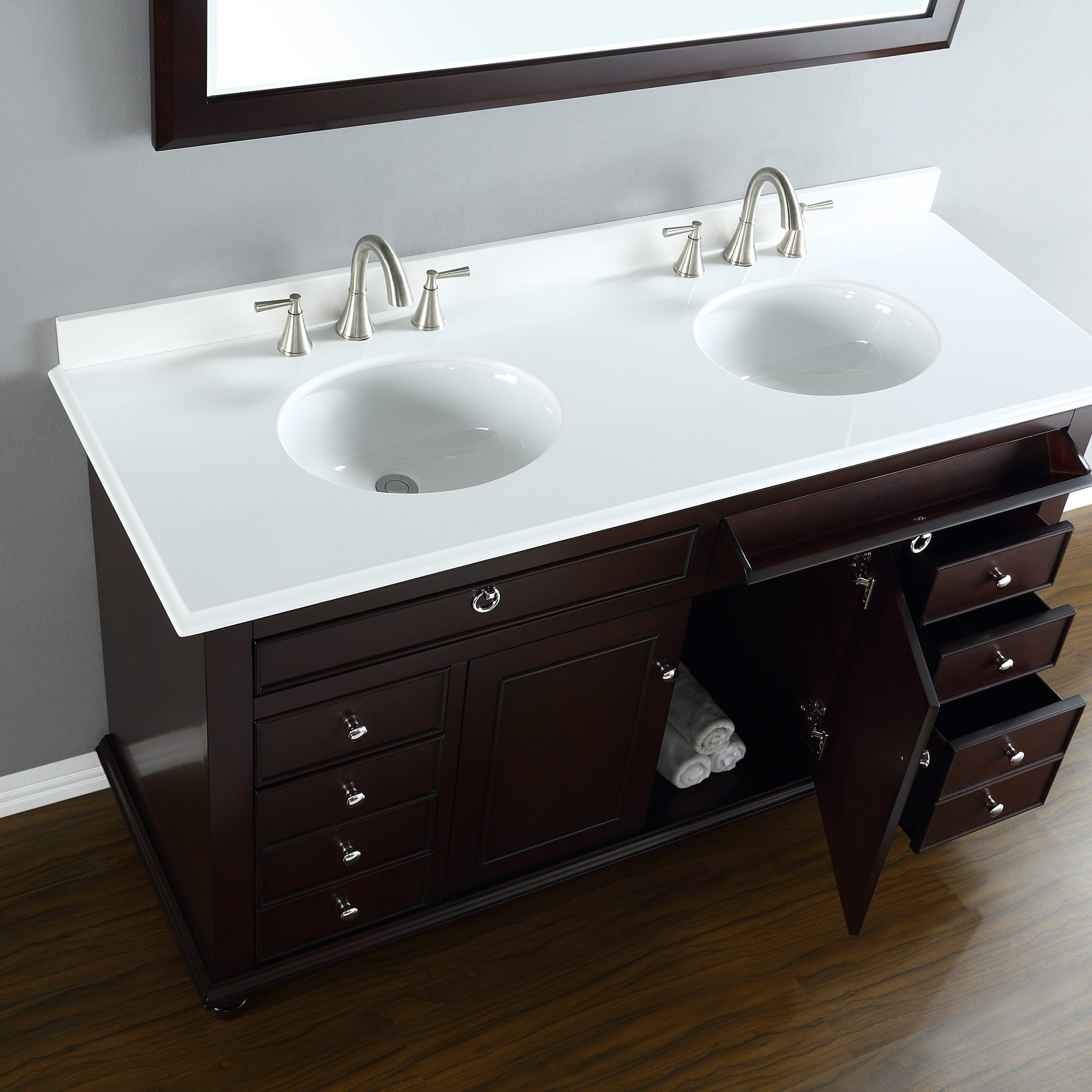 Mayfield 60 Quot Double Sink Vanity Mission Hills Furniture